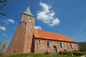 Westerhever – St. Stephanus (Turm 1370/Kirchenschiff 1804)