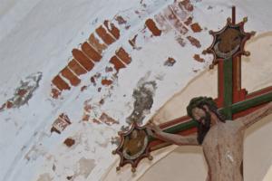 Kirche Garding-leidender Christustzter-Mauer
