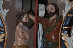 Kirche Garding-Johannes-tauft-Jesus