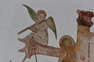 Kirche Garding-Wandmalerei-Engel