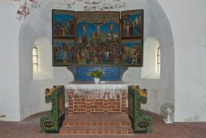 Kirche Osterhever Altarraum