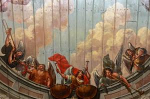 Kirche Tönning-Deckenbemalung mit Engel